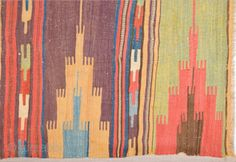 Colorful Early 18th Century Rare Collectible Anatolian Konya Area Safh Kilim Size 72 x 215 Cm