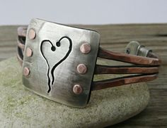 OOAK Triple Wire Cold Connected Cuff by LjBjewelry on Etsy