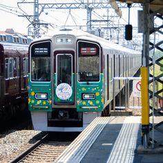 西山天王山駅開業HM付き9300系