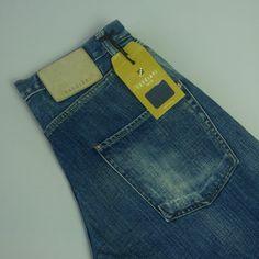 CANDIANI Marvel Crispy Jeans Size W32 L34 Stonewash Blue Denim
