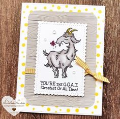Way to Goat | Stampin' Up | Stamping for Good Friendship Quotes, Goats, Stampin Up, All About Time, Gallery, Cards, Stamping Up, Quotes About Friendship, Map