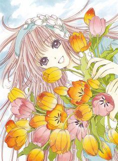 Kobato and tulips (Kobato)