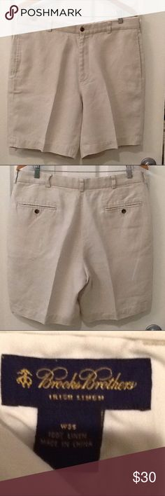 Brooks Brothers Irish Linen Men's shorts 35 Excellent condition Brooks Brothers Irish linen men's shorts size 35 Brooks Brothers Shorts