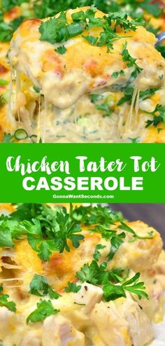 1 reviews · 60 minutes · Gluten free · Serves 6 · *NEW* My crowd-pleasing Chicken Tater Tot Casserole will fill your family's bellies and bring smiles to their faces, guaranteed! #ChickenTaterTotCasserole #ChickenCasserole #TaterTotCasserole… More Low Carb Chicken Casserole, Tater Tot Casserole, Tater Tots, Casserole Recipes, Tatertot Casserole Recipe, Hamburger Casserole, Casserole Dishes, Easy Chicken Dinner Recipes, Easy Meals
