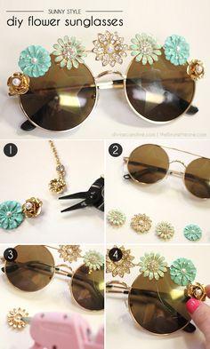 Sunny Style! DIY Embellished Sunglasses   Divine Caroline
