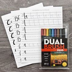 [On the Blog] Introducing our New Brush Lettering Kit + Free Practice Worksheet Download!