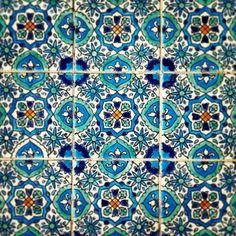 Mediterranean tiles at Malta. #decor #mediterranean #tile