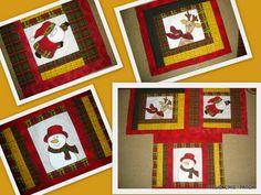 Lindas almofadas em patchwork e patchcolagem com temas natalinos, um carinho a mais em sua casa para receber os amigos.Este refere-se a unidade. Nao acompanha enchimento. R$ 50,43