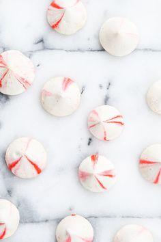 Blood orange vanilla bean meringues recipe