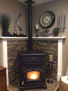 corner pellet stove