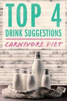 The carnivore diet restricts what you can eat and also what you can drink! We list 4 carnivore diet drinks and give a few tips on how to make and use them. Meat Diet, Diet Food List, Paleo Diet, Diet Tips, Zero Carb Diet, No Carb Diets, Low Carb Tacos, Natural Yogurt, Easy Diets