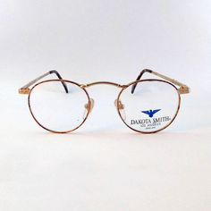 DAKOTA SMITH - occhiali vintage made in U.S.A - occhiali da uomo - occhiali da donna - occhiali rotondi metallo - taglia S/M