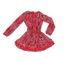 Vestido Folk Girl Vino - Ropa Niña - Colloky