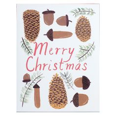 Cones and 'Corns Merry Christmas Card Set by Small Adventure