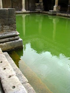 When the Roman Legion arrived here in A.D. 43 they immediately recognized the significance of the site. After a regional revolt was forcefully put down in A.D. 60, the Romans began to turn the natural springs into spectacular sacred baths. The hot springs had to be controlled so Roman engineers began the placement of oak piles driven deep into the mud while lead pipes directed the sacred water into a 6-foot (2-meter) deep lead sheet-lined reservoir. Bathers would enter the sacred water by,..