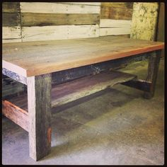 ReClaimed Wood Coffee Table $499 www.shabbylovefurniture.com