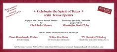 Tito & Tito's Handmade Vodka will be part of this pairing dinner at Jack Allen's Kitchen in Oak Hill (Austin, TX) Sept. 3rd at 7pm. Get your tickets! It will sell out quick.