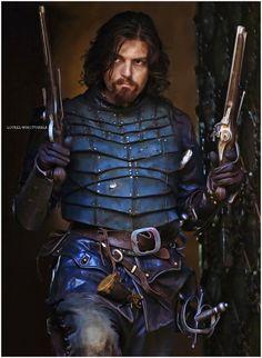 The Musketeers - Athos The Musketeers Tv Series, Bbc Musketeers, The Three Musketeers, Tom Burke, Fantasy Rpg, Medieval Fantasy, Musketeer Costume, Renaissance, Howard Charles
