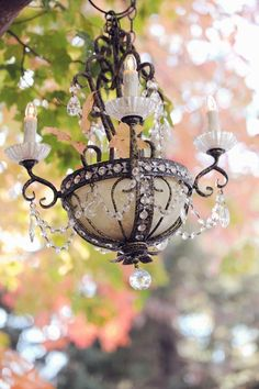 Shabby Chic French chandelier...