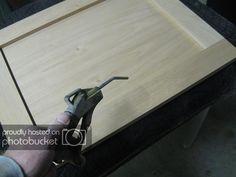 Shaker Door becomes. Shaker Style Doors, Shaker Doors, Wood Projects, Woodworking Projects, Tape Reading, Miter Saw, Cabinet Making, Diy Door, Cabinet Doors