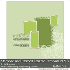 Stamped and Framed Layered Template No. 13- Katie Pertiet - PSE/PS Templates- LT751283- DesignerDigitals