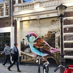 Street art by Dopie in Amsterdam.