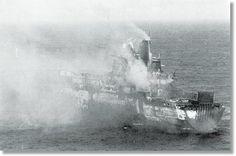 Atlantic Conveyor , after 1 Exocet missile
