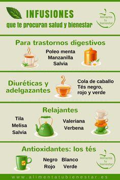 Infusiones que te procuran salud y bienestar #alimentatubienestar