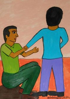 """Waldomiro de Deus. """"Dê me a mão"""". 46x33 cm"""