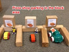 Parking for pizza shop in the block area