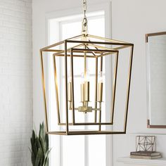 Shop for Prosperus Updated Traditional Gold Lantern Lighting Fixture. Get free delivery at Overstock - Your Online Ceiling Lighting Store! Get in rewards with Club O! Lantern Chandelier, Lantern Pendant, Chandelier Lighting, Lantern Lighting, Chandeliers, Lantern Light Fixture, Hanging Light Fixtures, House Lighting, Wall Lighting