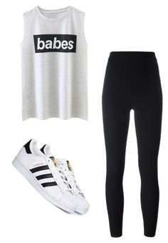 """""""#65"""" by cecilie-monica-nrskov-pedersen on Polyvore featuring adidas Originals and adidas"""