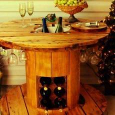 Spool Turned Wine Table