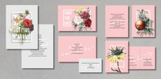 BOLD Wedding Invitation Set Save the date RSVP by INVITALIA