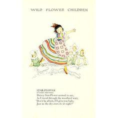 Wild Flower Children c1918 Star-flower Canvas Art - Janet Laura Scott (18 x 24)