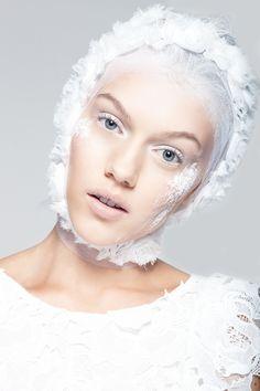 White Beauty - Photographed by Niklas Rüffer Hair & Make-Up Marlene Andersson Styling Lilian Büchner Model Julie Verlo / BodyLondon