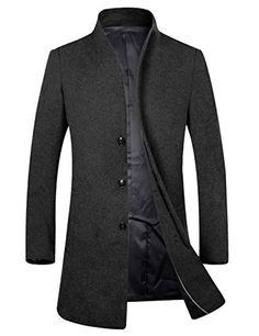 SALE PRICE - $85.99 - APTRO Men's Wool French Front Long Business Coat Top Coat
