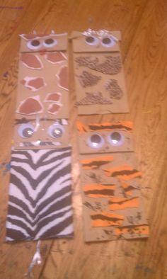 Paper bag felt puppets