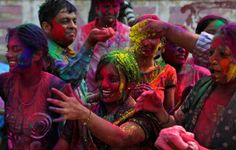 Holi Festival of Color in India.
