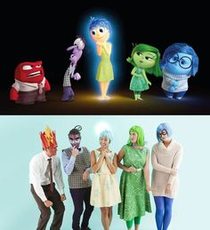 Group costume idea! If you're a Pixar fan, you can get your friends together and dress up like the characters from Inside Out.