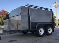 Work Trailer, Utility Trailer, Mobile Welding, Welding Works, Pickup Trucks, Camper, Workshop, Cool Stuff, Vehicles