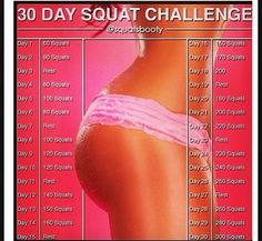 30 day squat challenge Butt Workout: The 5 Best Exercises for a Tight, Toned Butt - Shape Magazine Lady Fitness, Sport Fitness, Fitness Diet, Health Fitness, Squats Fitness, Workout Fitness, Pink Fitness, Fitness Band, Fitness Memes