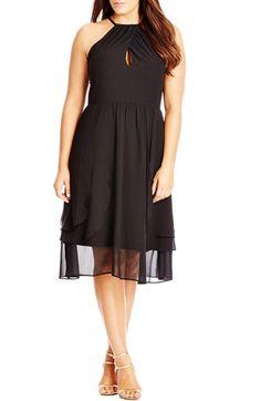 City Chic 'Summer Flirt' Fit & Flare Dress (Plus Size)