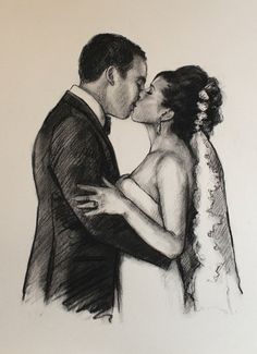 Portrait Of Kissing Couple custom gifts charcoal portrait from photo custom wedding anniversary gift 50 Wedding Anniversary Gifts, Paper Anniversary, Charcoal Portraits, Portraits From Photos, Paper Gifts, Mom And Dad, Customized Gifts, Hand Painted, Couples