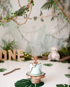 Smash Cake First Birthday, Simple First Birthday, Boys First Birthday Party Ideas, Smash Cake Girl, Wild One Birthday Party, Baby Boy First Birthday, 1st Birthday Photos, Jungle Theme Cakes, Happy Birthday Posters