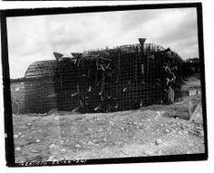 Utah Beach Un blockhaus en cours de construction