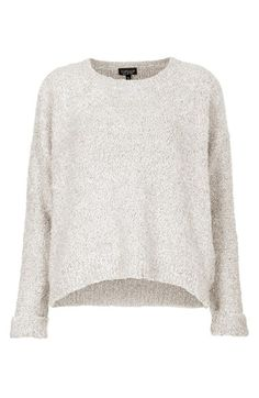 boucle knit sweater / topshop