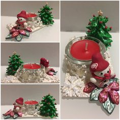 Snowman - Candle holder
