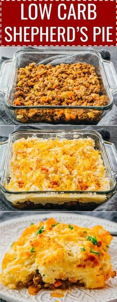 A healthy keto version of traditional shepherd's pie with lamb (or called cottage pie, if using beef). This is an easy recipe for the best . Shepards Pie Easy, Low Carb Shepherds Pie, Healthy Shepards Pie, Best Shepherds Pie Recipe, Minced Beef Recipes, Mince Recipes, Pork Recipes, Vegan Keto, Paleo