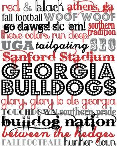 The Southern Darling: Football season is almost here (GO DAWGS)! Free Subway Printable!
